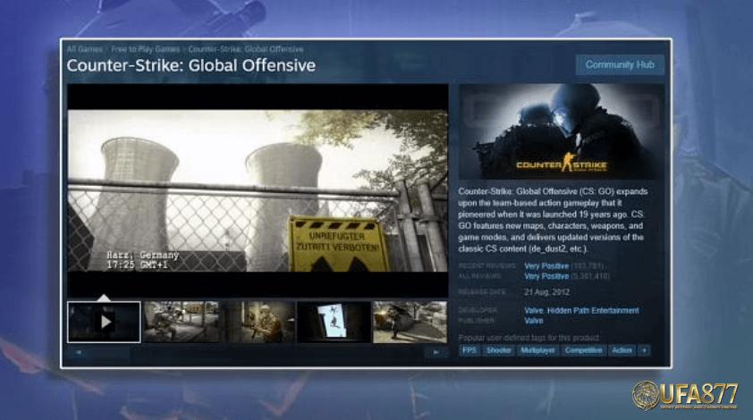 หน้า csgo ถูกลบออกจาก Steam